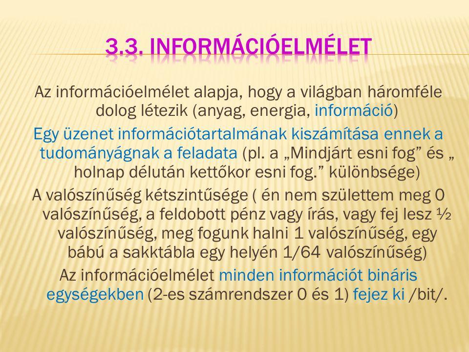3.3. Információelmélet