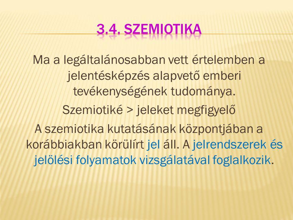 3.4. szemiotika