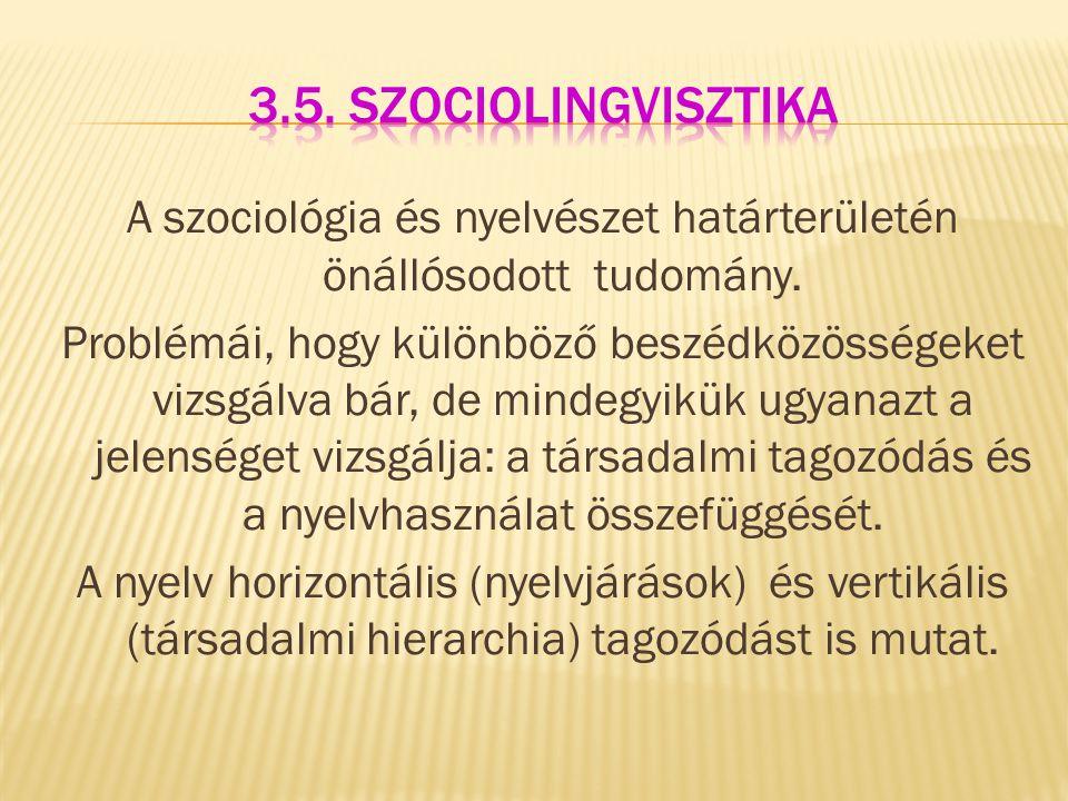 3.5. szociolingvisztika