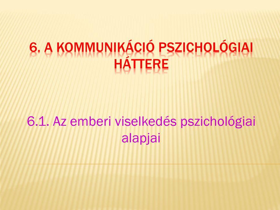 6. a kommunikáció pszichológiai háttere