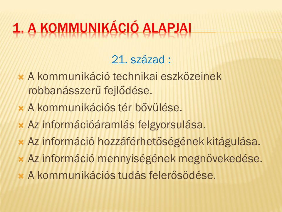 1. A kommunikáció alapjai
