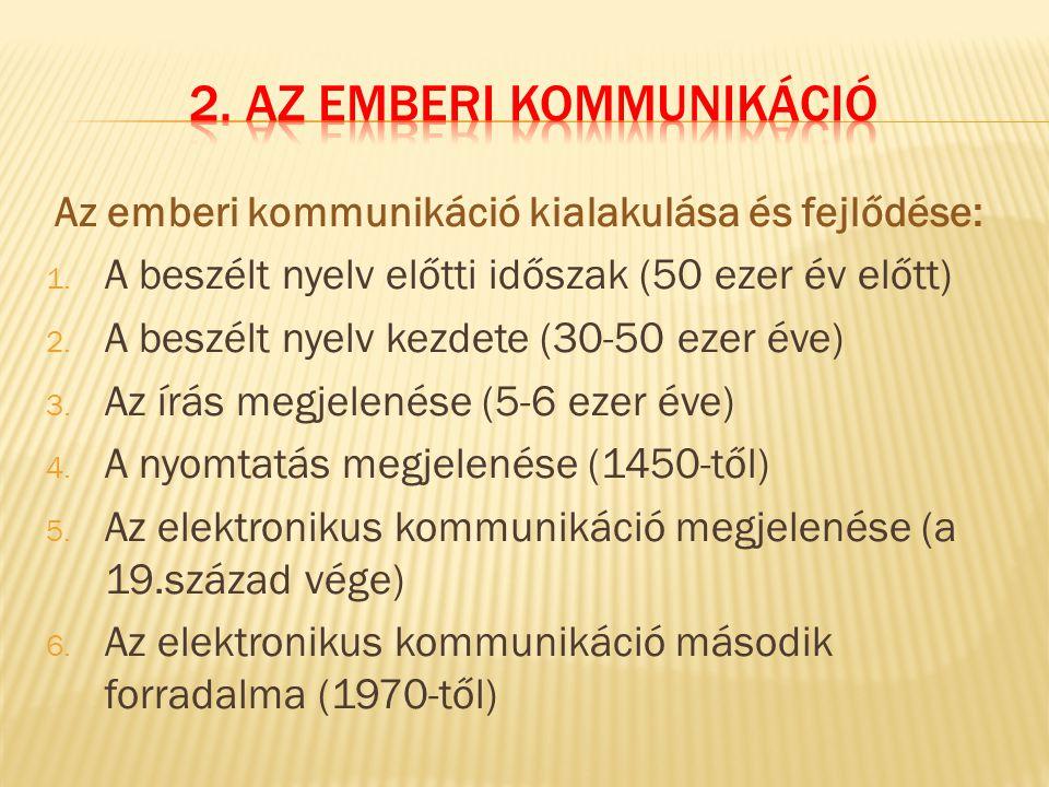 2. Az emberi kommunikáció