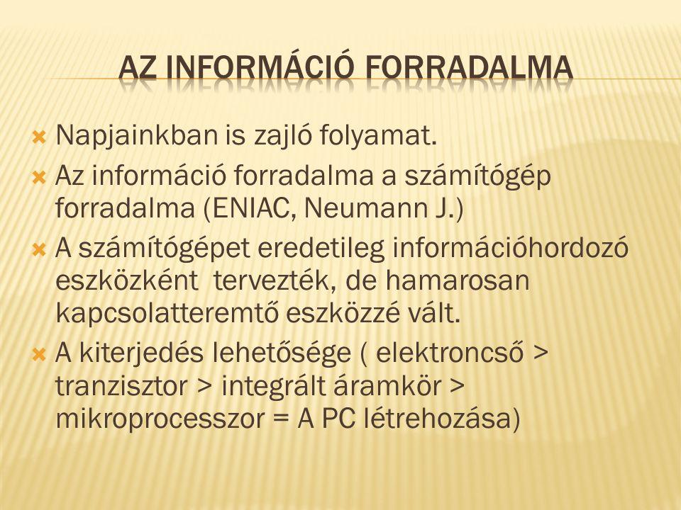 Az információ forradalma
