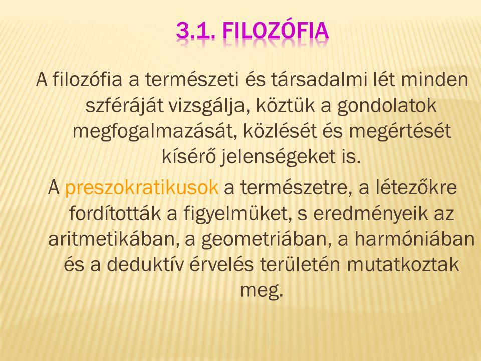 3.1. Filozófia