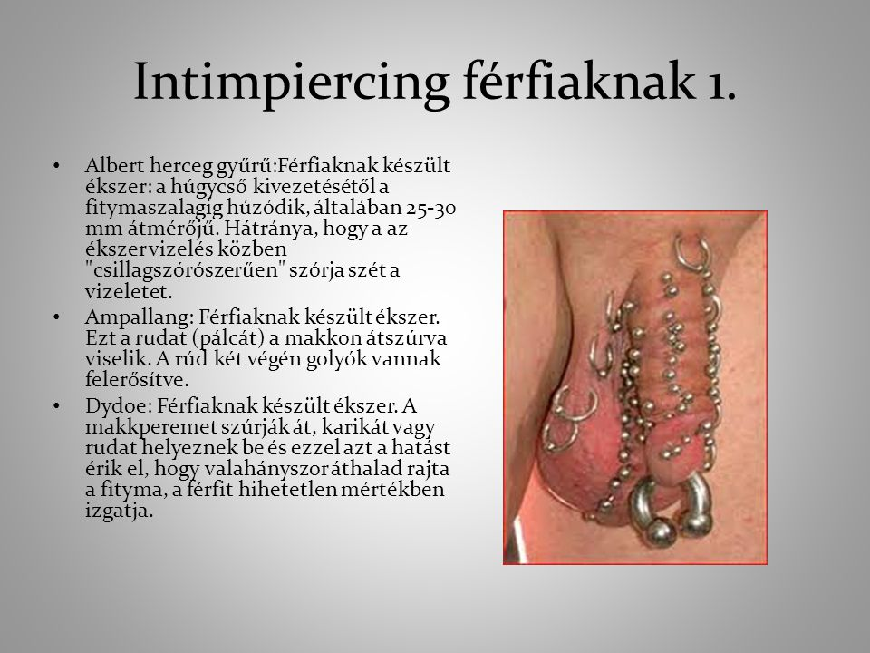 Intimpiercing férfiaknak 1.