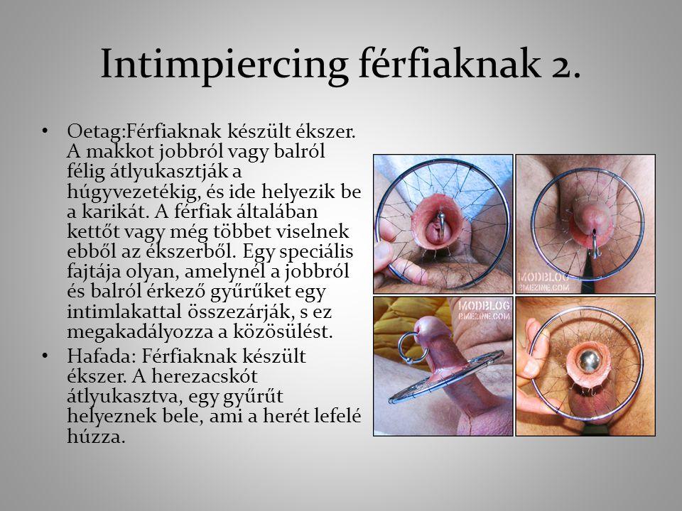 Intimpiercing férfiaknak 2.