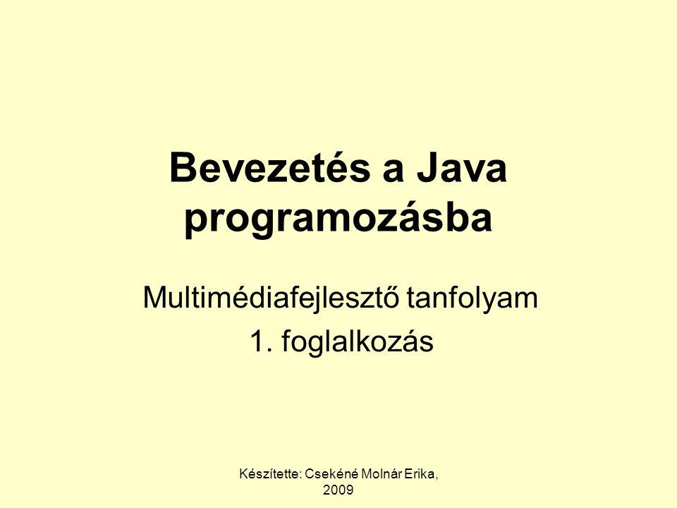 Bevezetés a Java programozásba