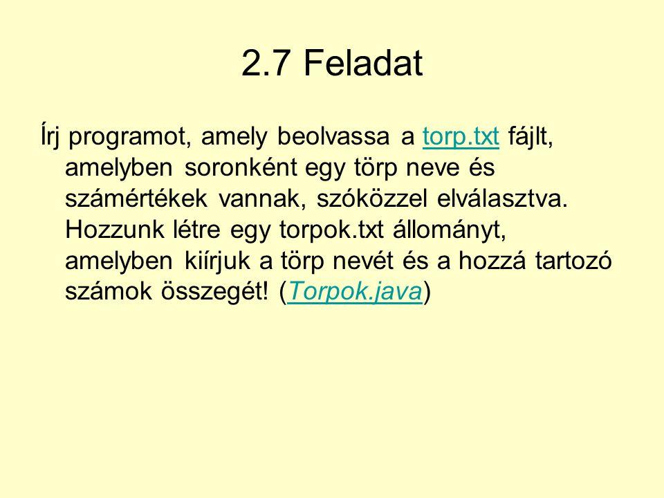 2.7 Feladat
