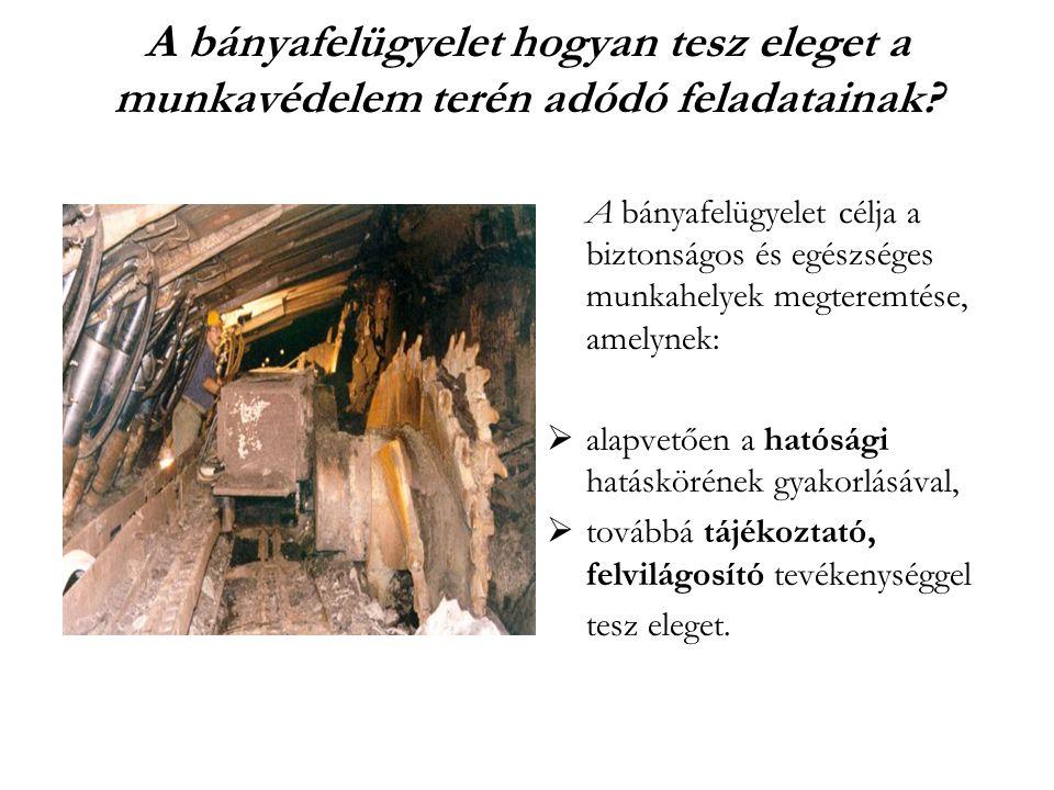 A bányafelügyelet hogyan tesz eleget a munkavédelem terén adódó feladatainak