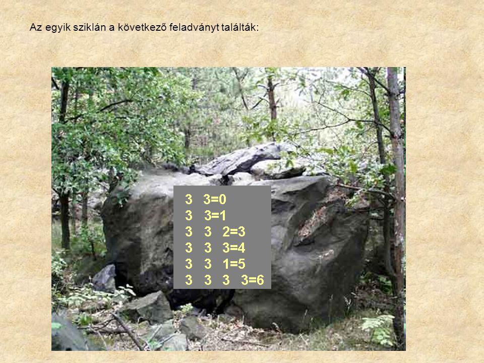 Az egyik sziklán a következő feladványt találták: