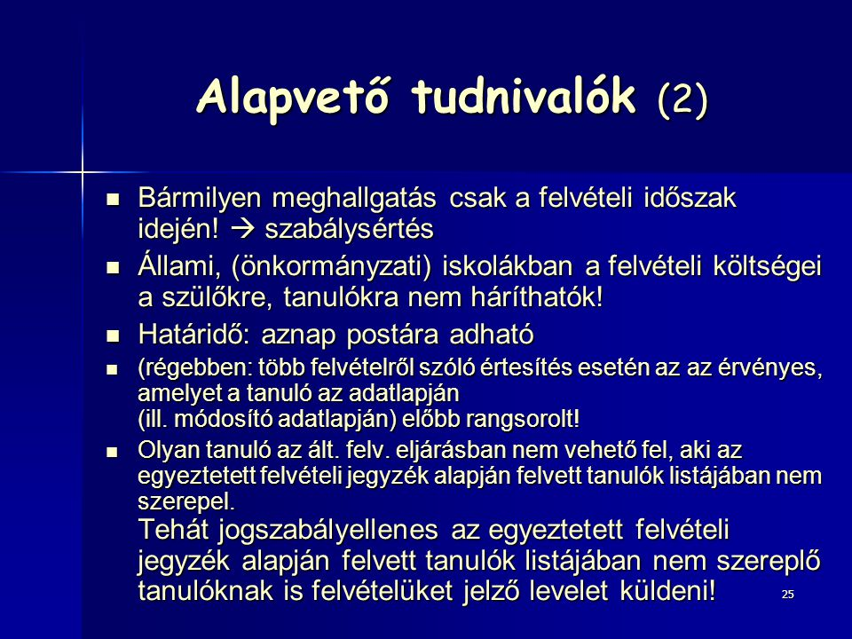 Alapvető tudnivalók (2)