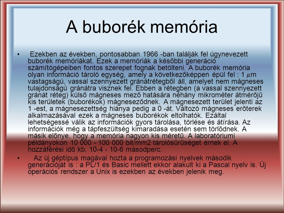 A buborék memória
