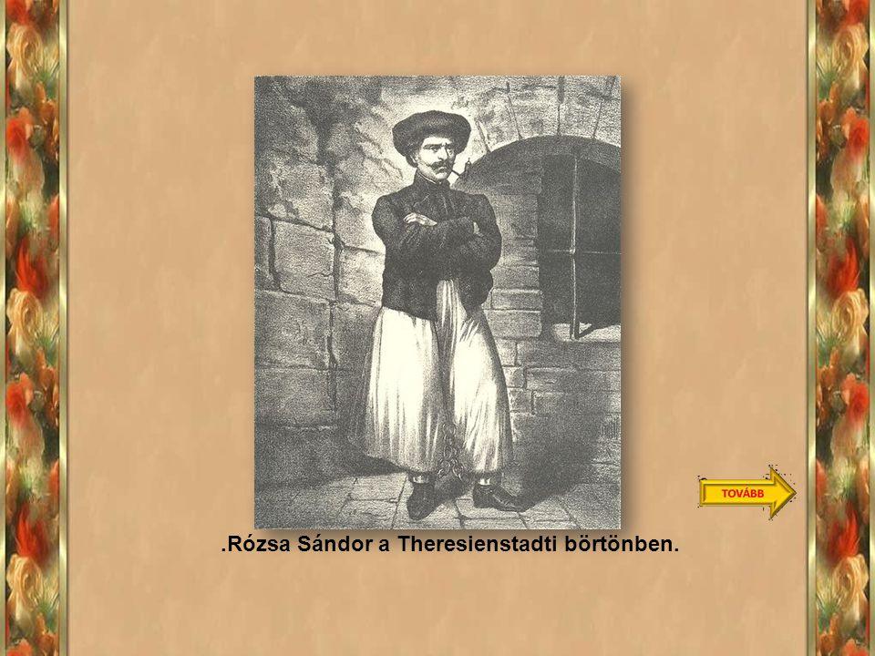 .Rózsa Sándor a Theresienstadti börtönben.