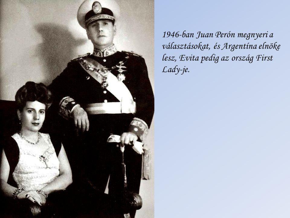 1946-ban Juan Perón megnyeri a