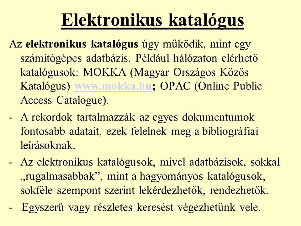 Elektronikus katalógus