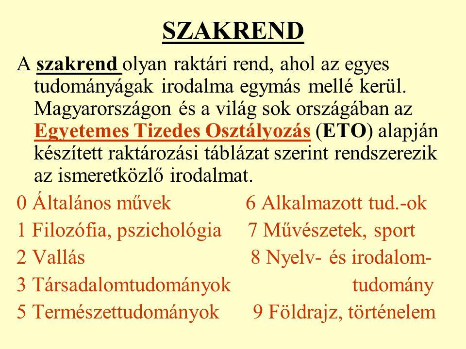 SZAKREND