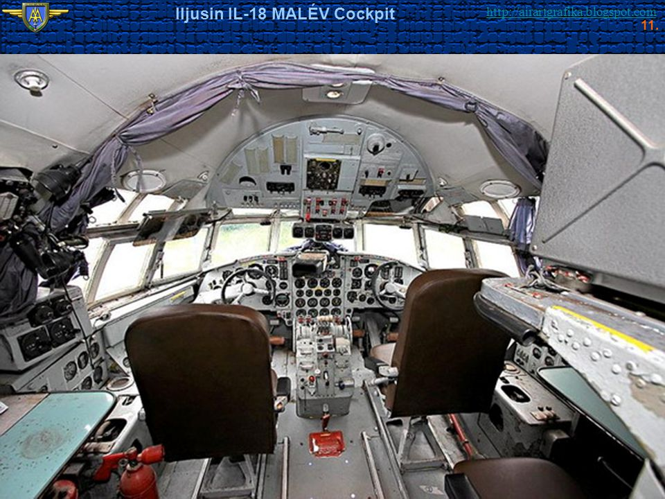 Iljusin IL-18 MALÉV Cockpit