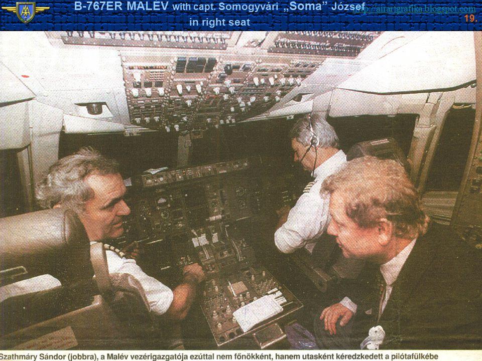"B-767ER MALÉV with capt. Somogyvári ""Soma József"