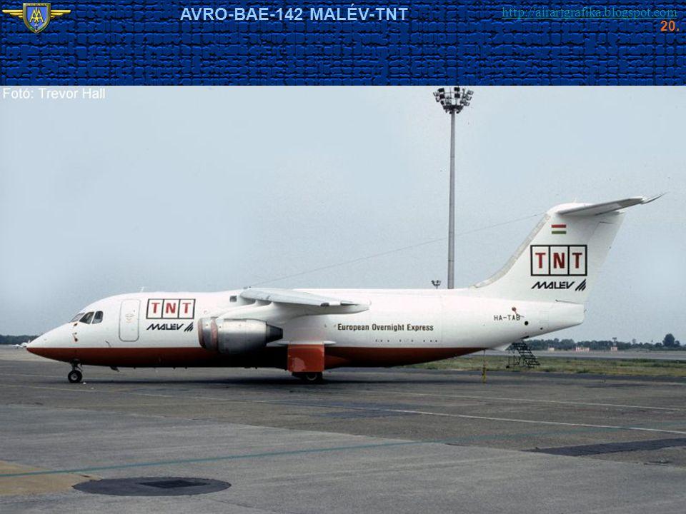 http://airartgrafika.blogspot.com AVRO-BAE-142 MALÉV-TNT 20.