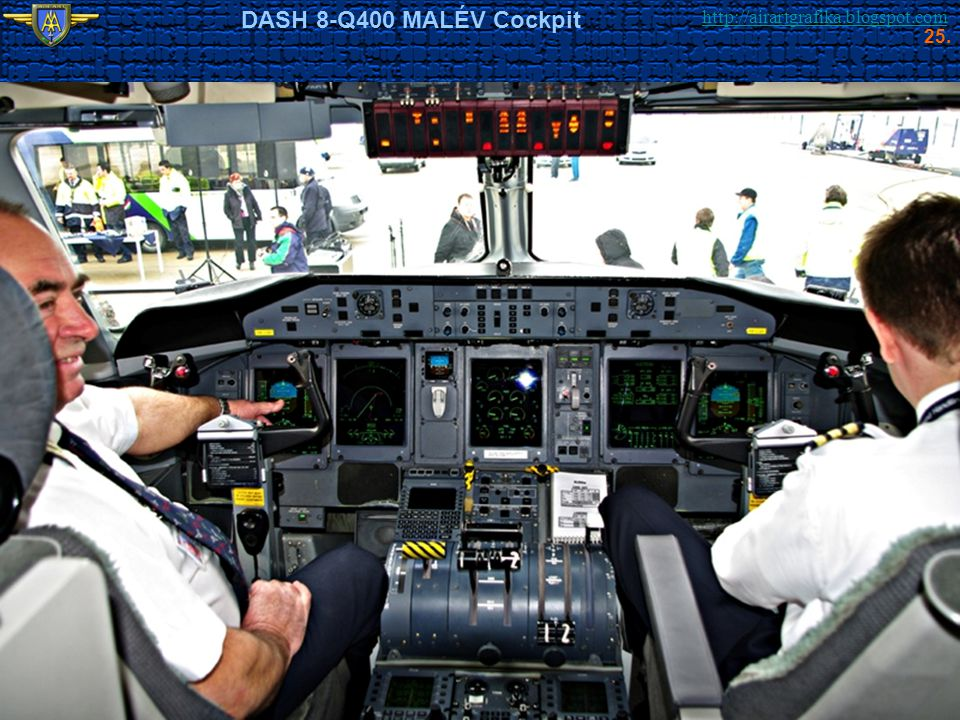 http://airartgrafika.blogspot.com DASH 8-Q400 MALÉV Cockpit 25.