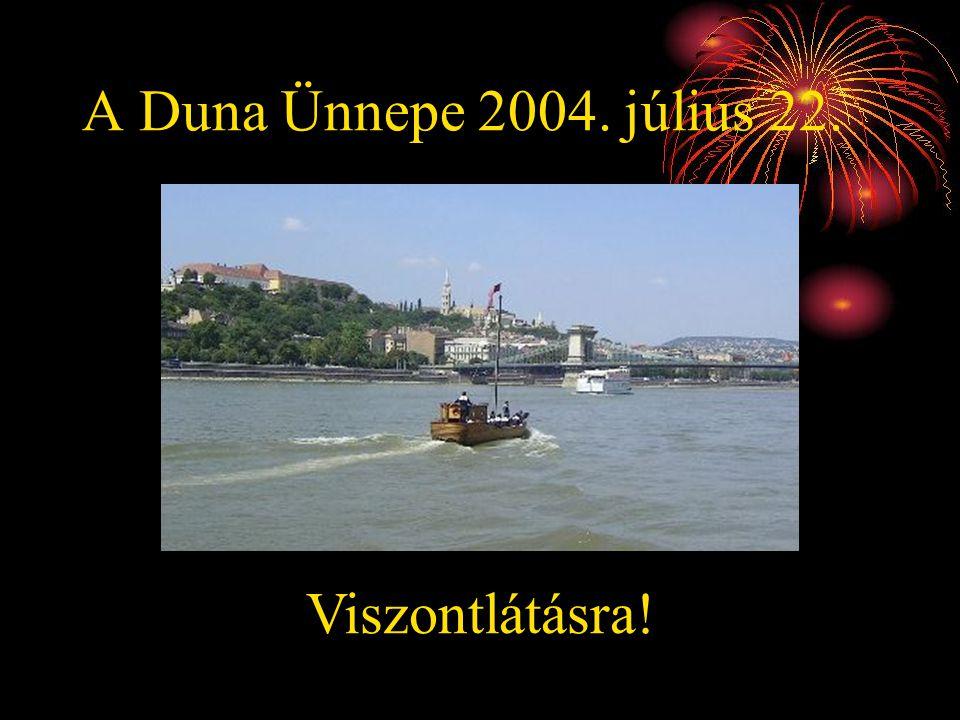 A Duna Ünnepe 2004. július 22. Viszontlátásra!