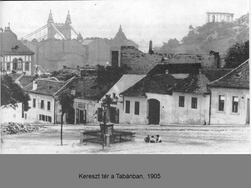 Kereszt tér a Tabánban, 1905