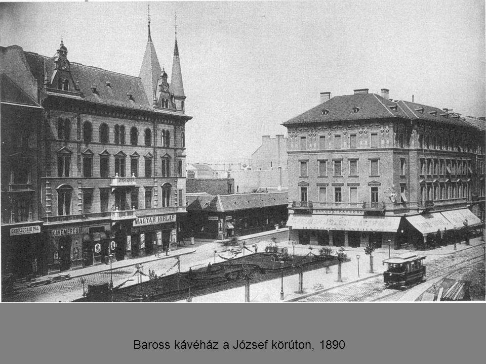 Baross kávéház a József körúton, 1890