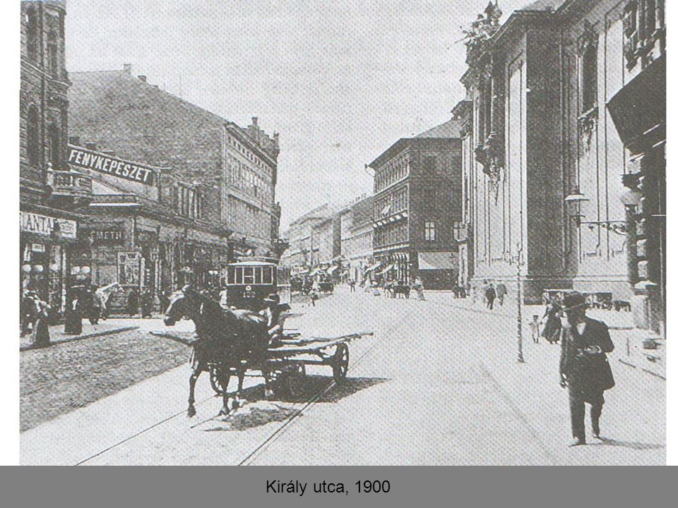 Király utca, 1900
