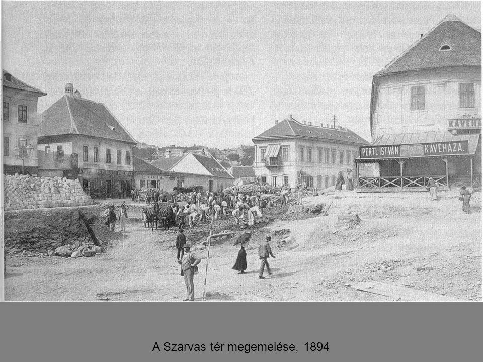 A Szarvas tér megemelése, 1894