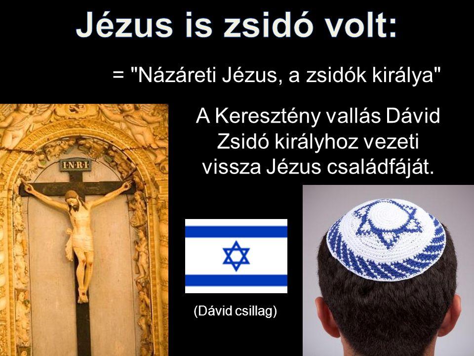 Jézus is zsidó volt: = Názáreti Jézus, a zsidók királya