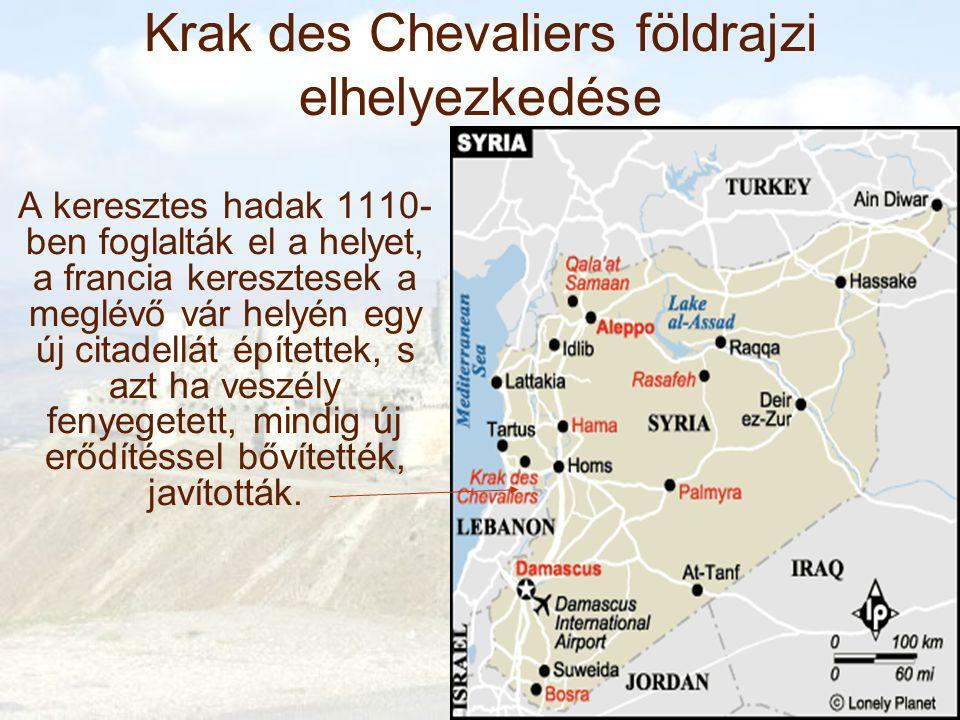 Krak des Chevaliers földrajzi elhelyezkedése