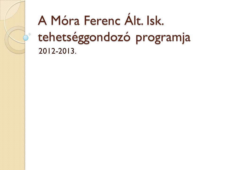 A Móra Ferenc Ált. Isk. tehetséggondozó programja