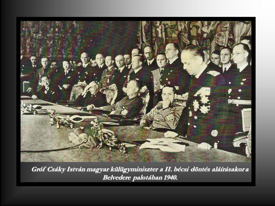 Gróf Csáky István magyar külügyminiszter a II