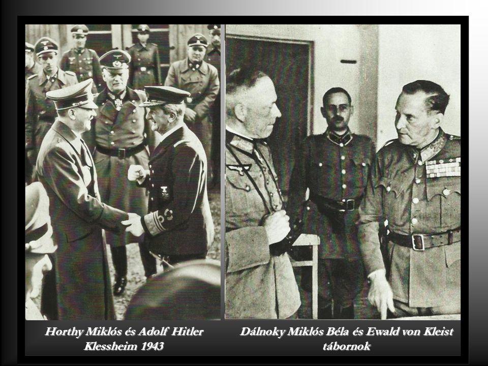Horthy Miklós és Adolf Hitler Klessheim 1943