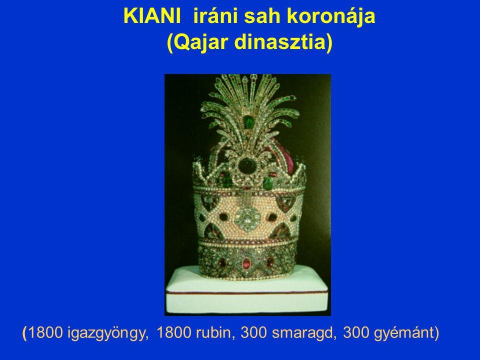 KIANI iráni sah koronája (Qajar dinasztia)