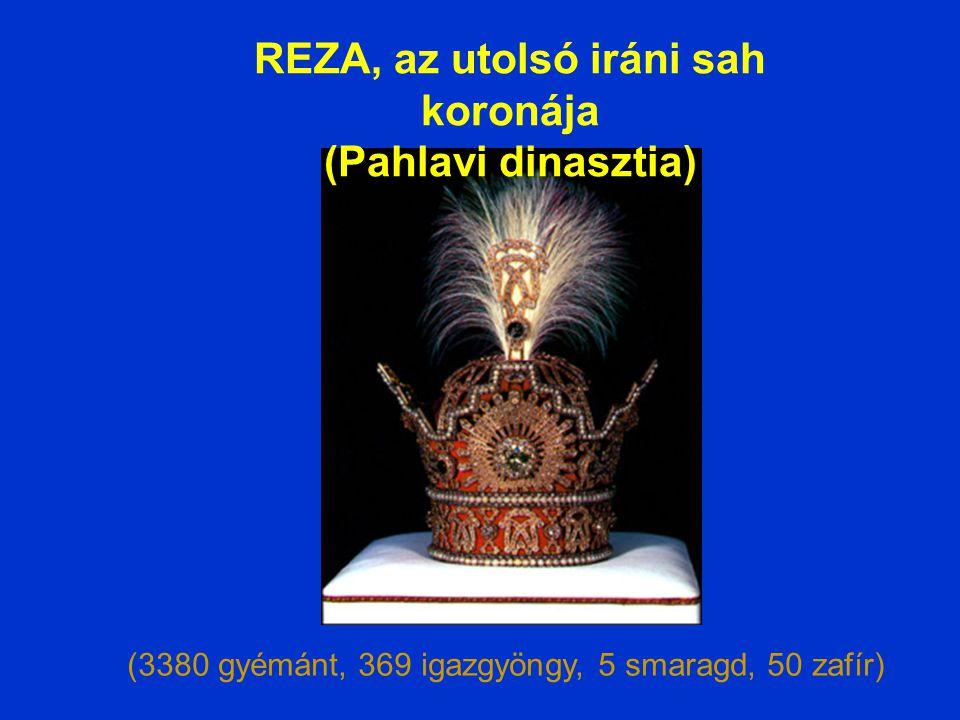 REZA, az utolsó iráni sah koronája (Pahlavi dinasztia)