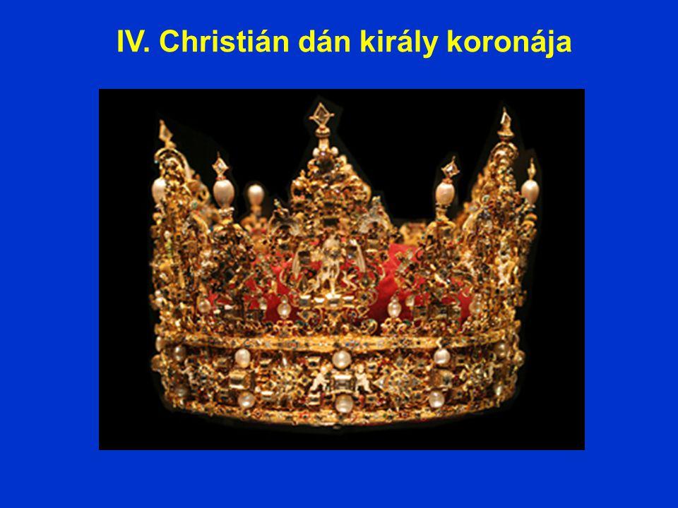 IV. Christián dán király koronája