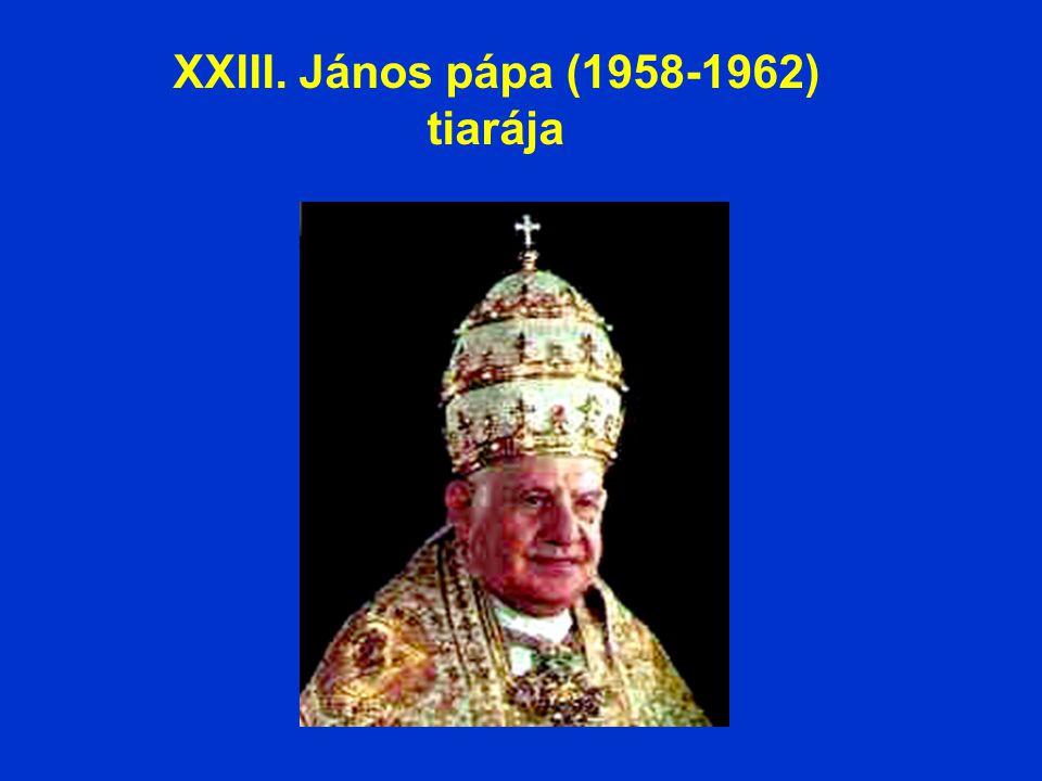 XXIII. János pápa (1958-1962) tiarája