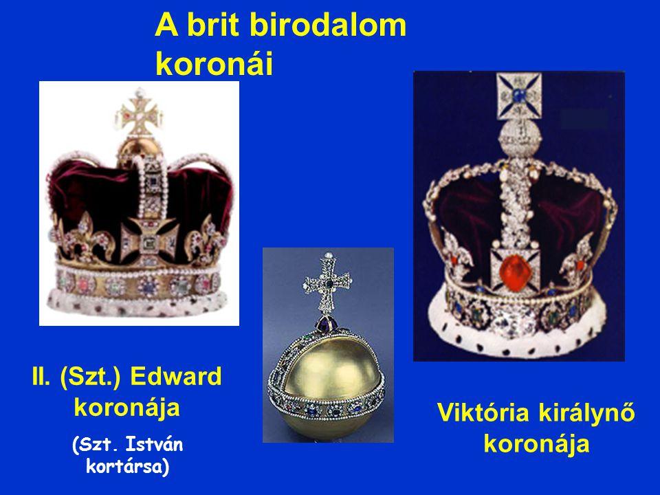 II. (Szt.) Edward koronája Viktória királynő koronája