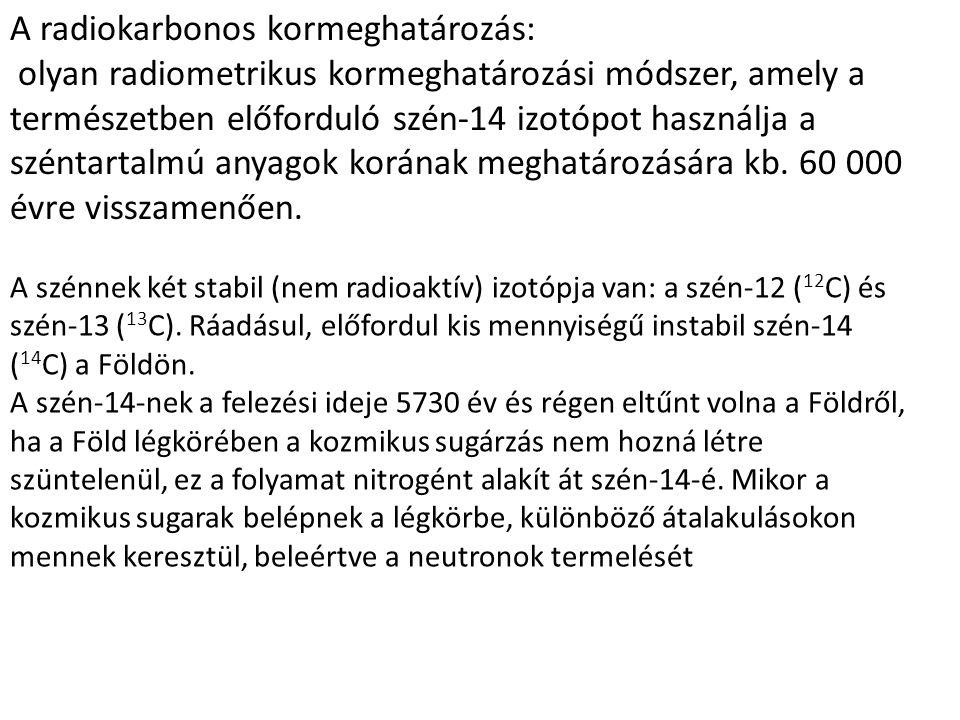 A radiokarbonos kormeghatározás:
