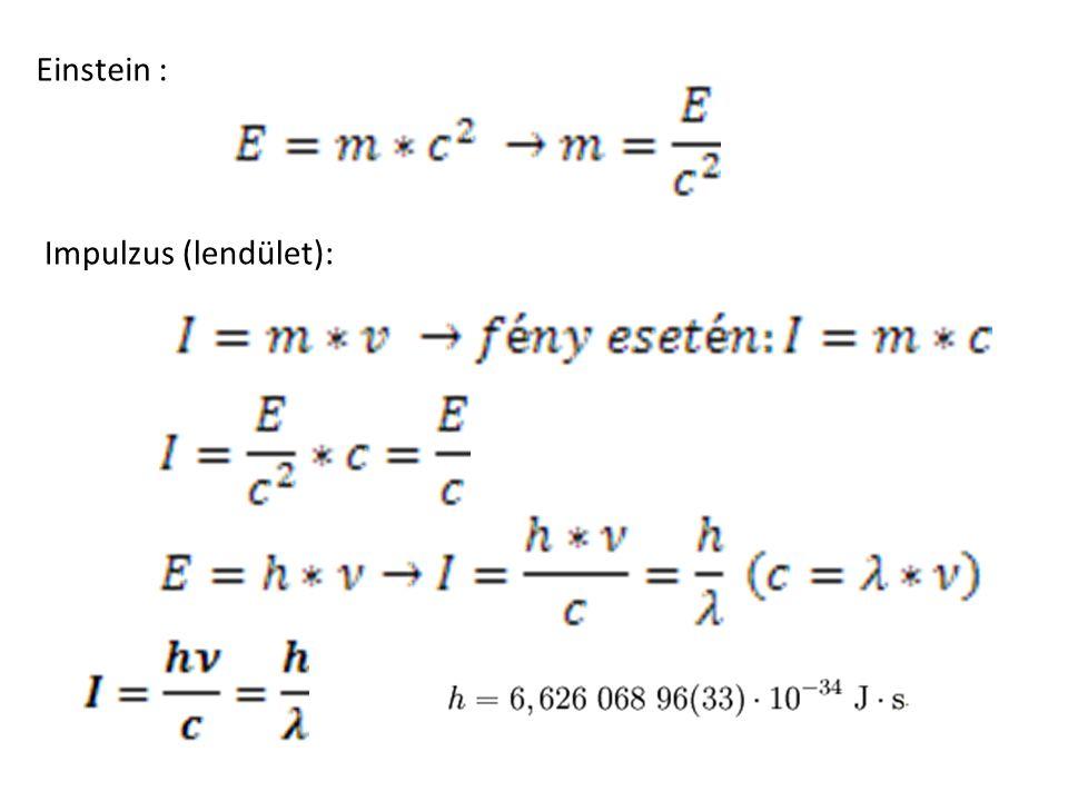 Einstein : Impulzus (lendület):