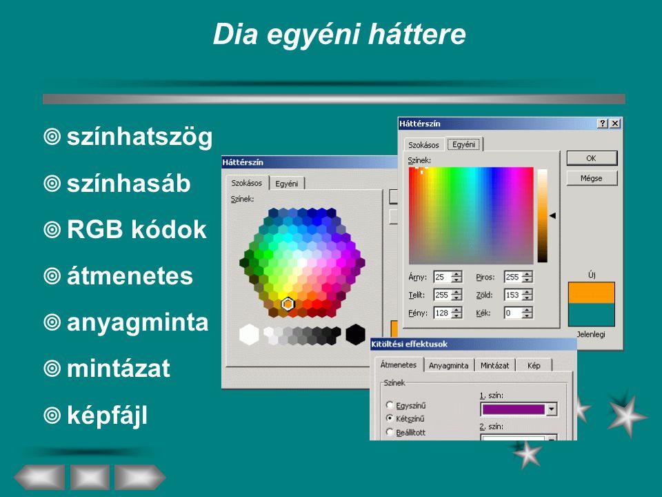 Dia egyéni háttere színhatszög színhasáb RGB kódok átmenetes