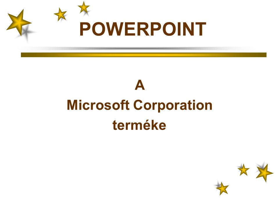 A Microsoft Corporation terméke