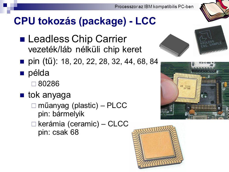 CPU tokozás (package) - LCC