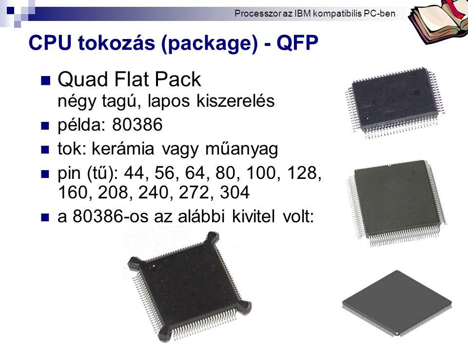 CPU tokozás (package) - QFP
