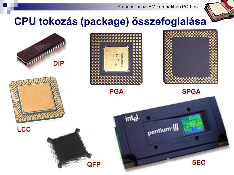 CPU tokozás (package) összefoglalása