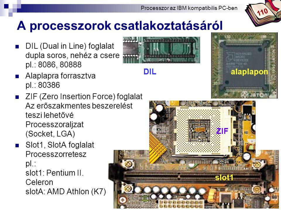 A processzorok csatlakoztatásáról