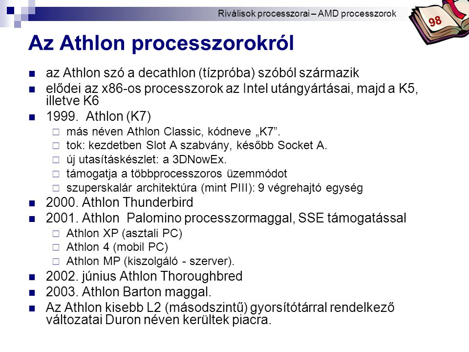 Az Athlon processzorokról
