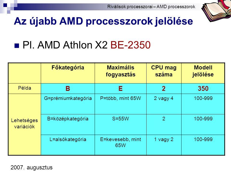 Az újabb AMD processzorok jelölése