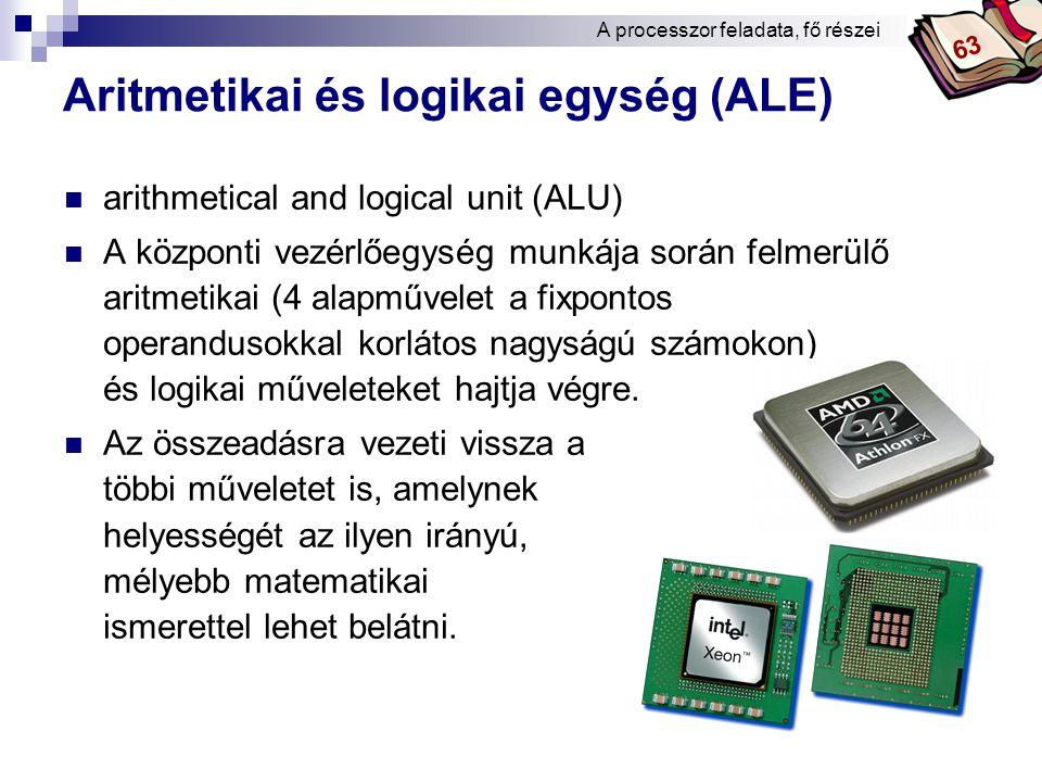 Aritmetikai és logikai egység (ALE)
